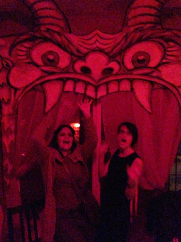 Halloween decoration - giant devil head doorway
