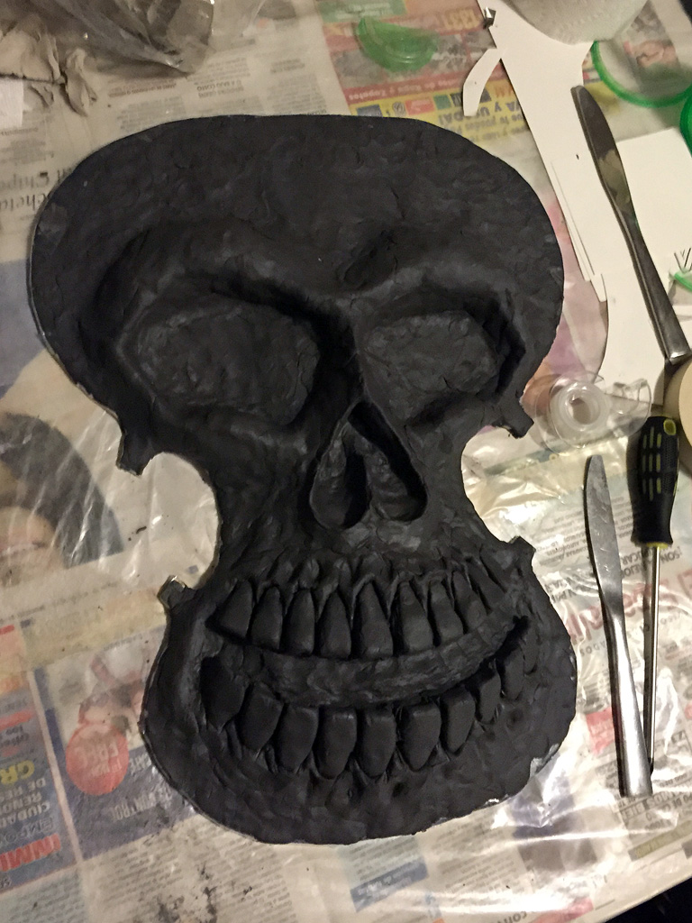 Clay sculpture for my violin skull mask