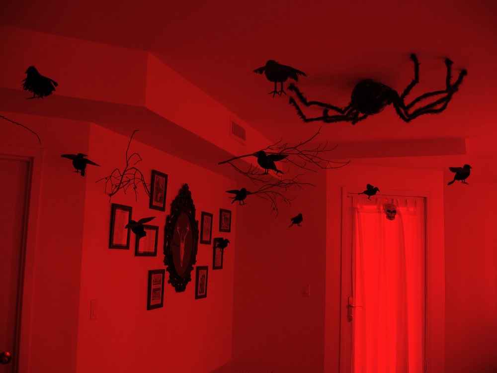 Haunted forest Halloween party decor