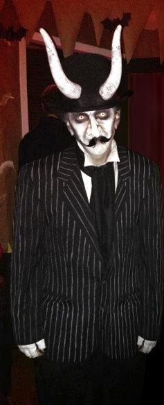 Old-timey devil costume