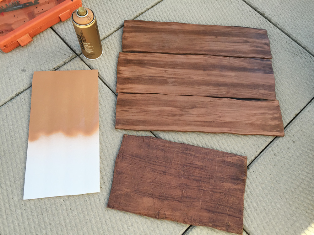 How to make a fake wood grain effect manning makes stuff Wood colour paint