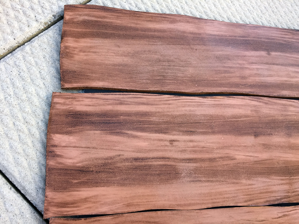 How to create a fake wood grain effect