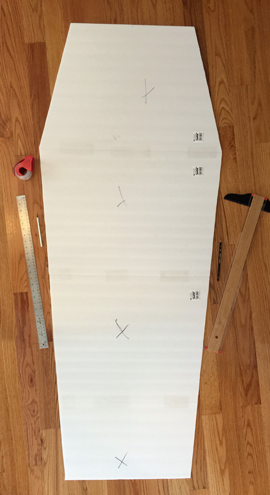 How to make a foam board coffin