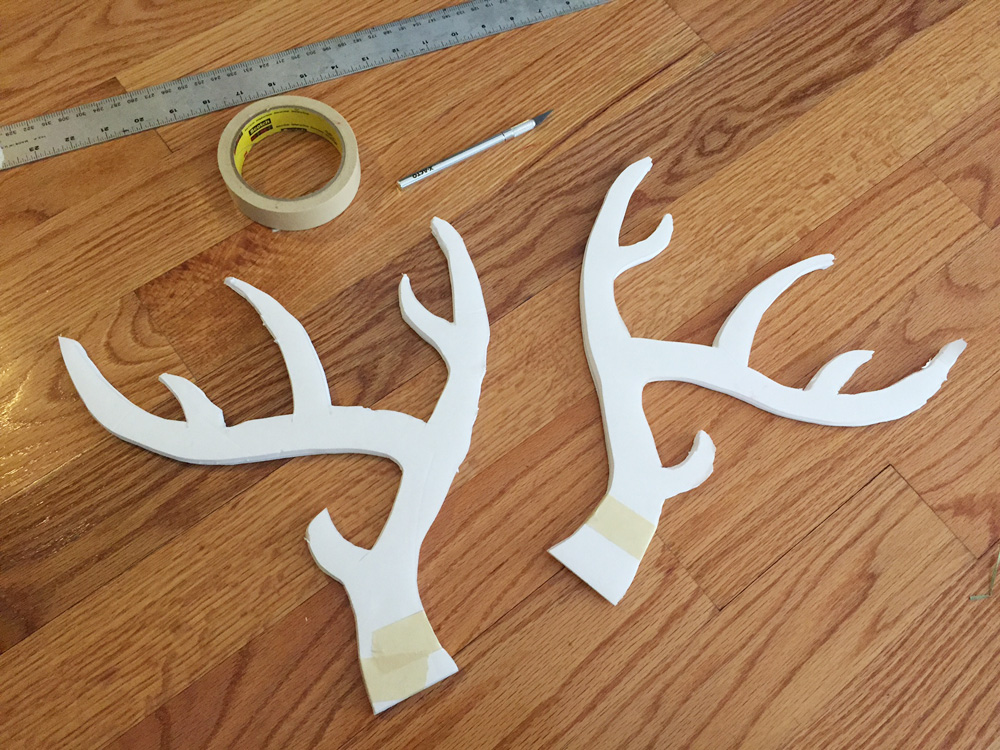 How to make deer antlers -- cutting out the shapes