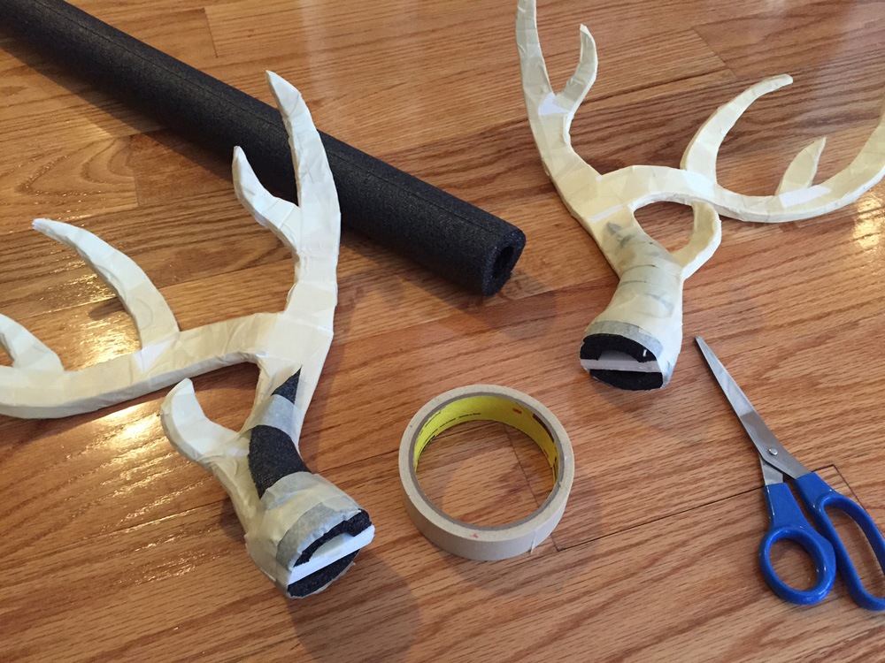 How to make deer antlers -- adding foam pieces