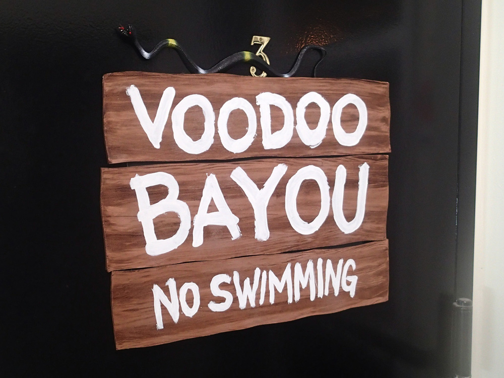 Voodoo Bayou fake wooden sign