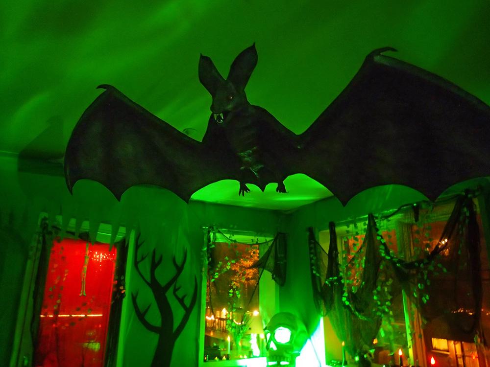 Giant papier mache bat