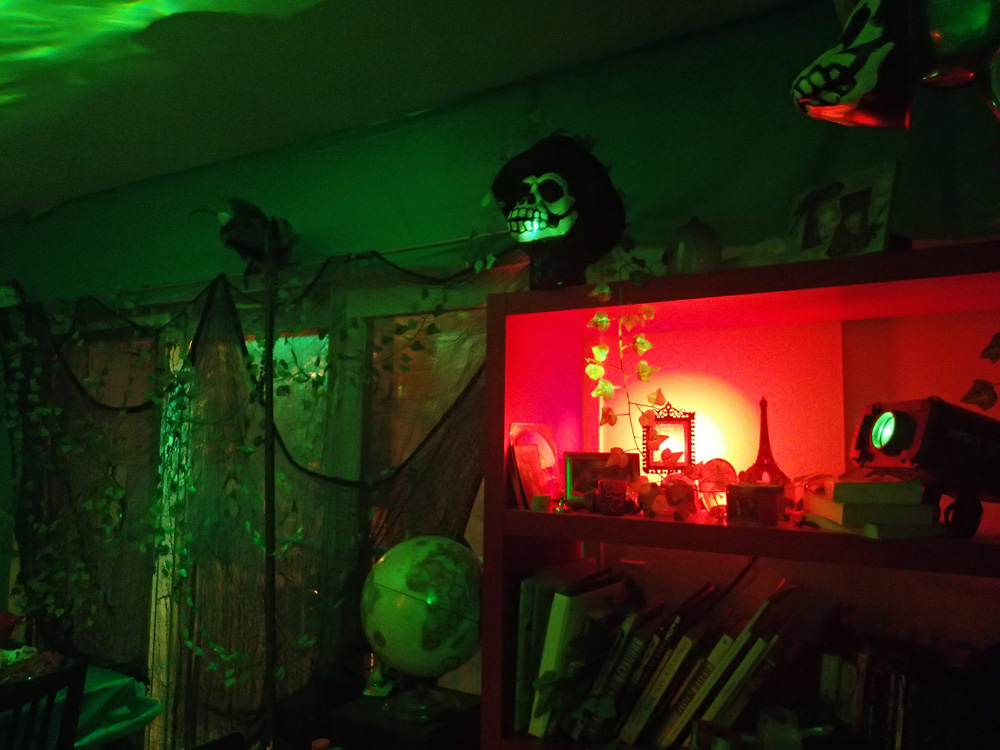 Spooky lighting at the Voodoo Bayou party