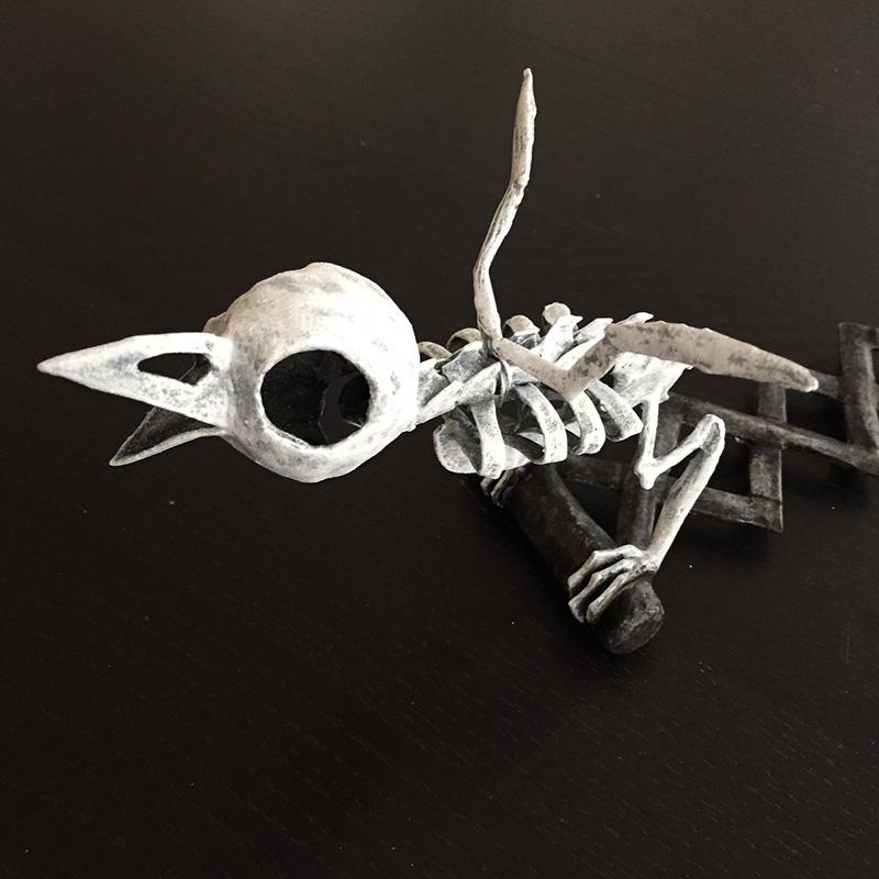 Bird skeleton - painting finished!