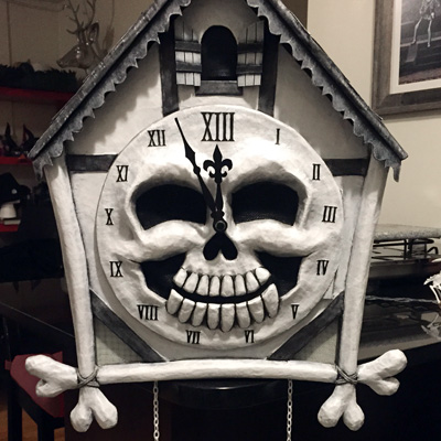 Cuckoo Clock Skull Mask Mardi Gras 2016 Part 3
