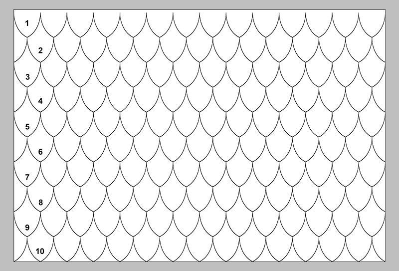 Craft foam roof pattern, figure 1