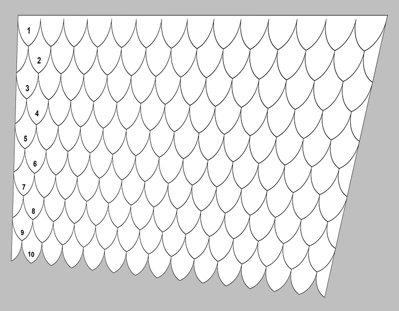 Craft foam roof pattern, figure 2