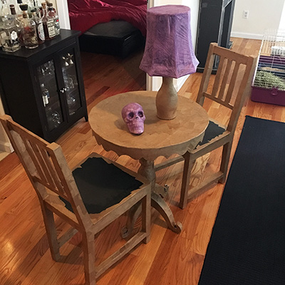 Paper mach chairs for my s ance halloween party for Paper mache furniture ideas