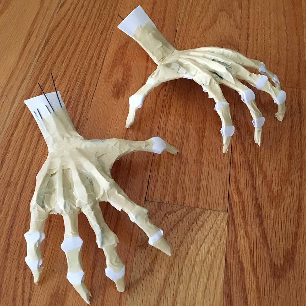 Spooky ghost hands - ready for paper mache