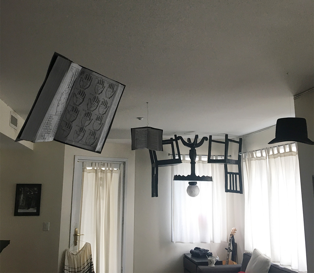 Ghostly books decoration