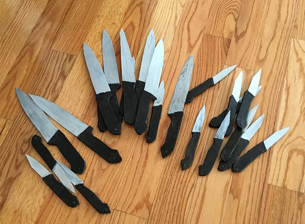 Homemade knife decorations