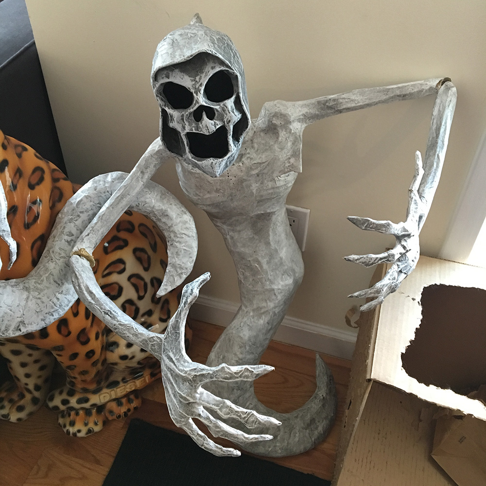Ghost costume - finished sculpture