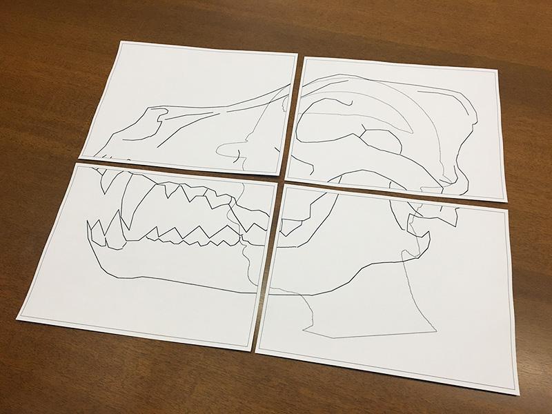 Wolf skull mask design