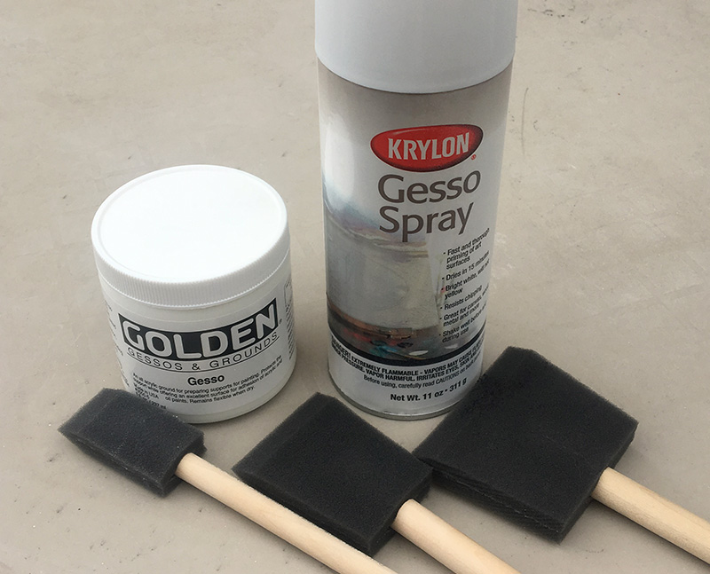 Tips for working with spray gesso