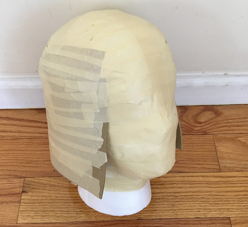 Avatar of Woe cosplay - craft foam flared neckguard