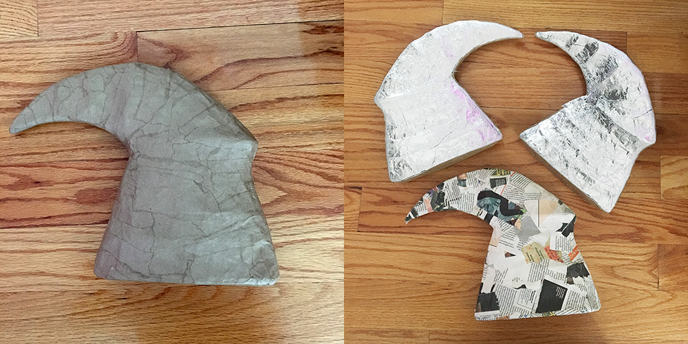 Avatar of Woe cosplay - finishing the horns