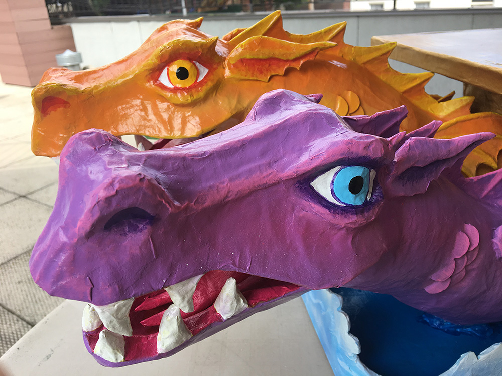 Custom paper mache dragon