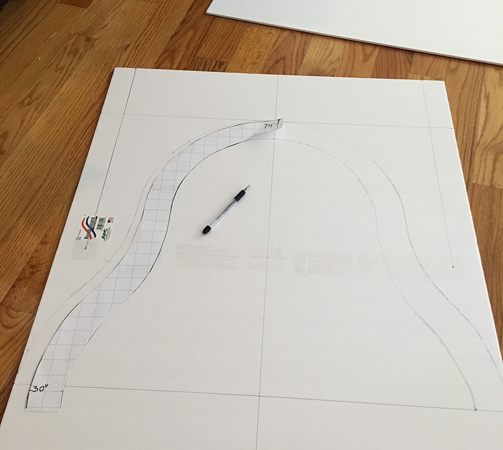 Making an Egyptian sarcophagus - tracing the shape