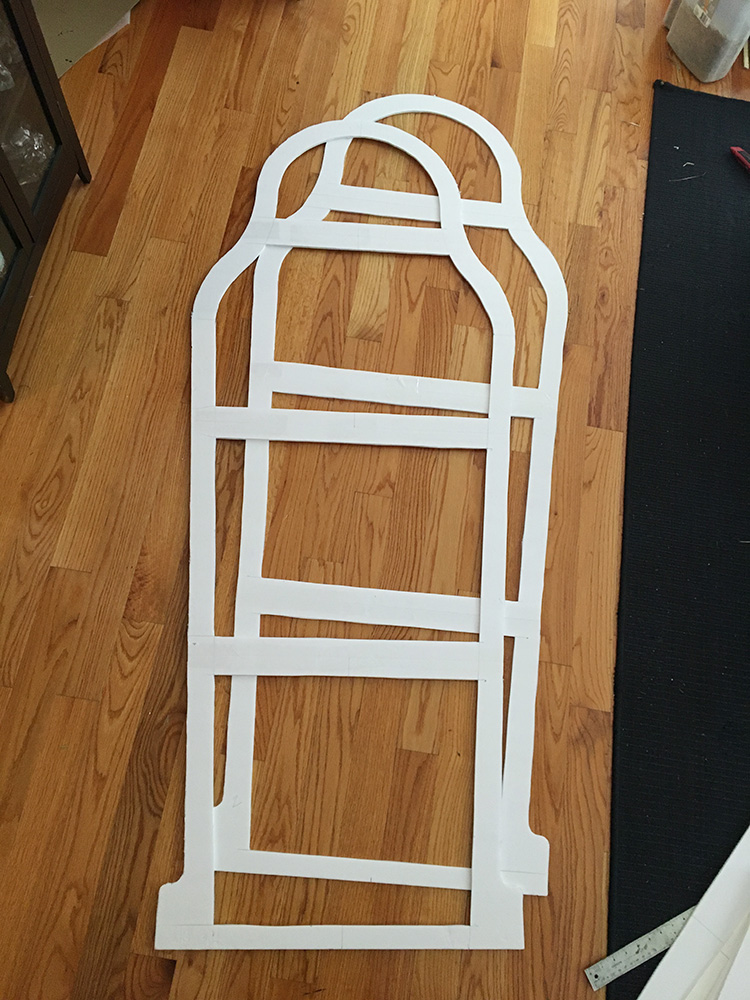 Making an Egyptian sarcophagus - cutting out the edges