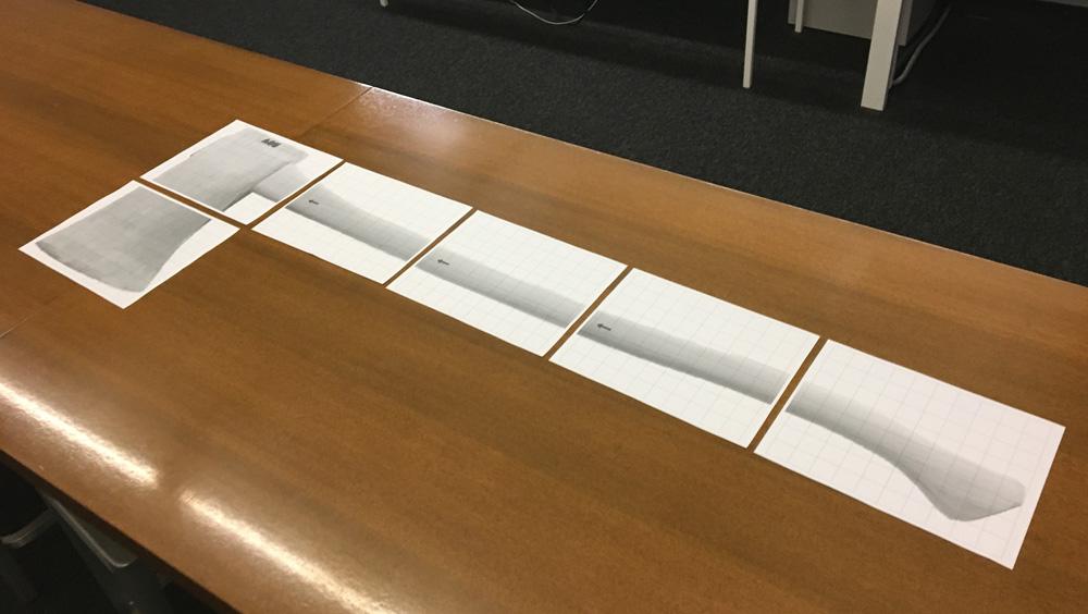 Paper mache axe - printouts