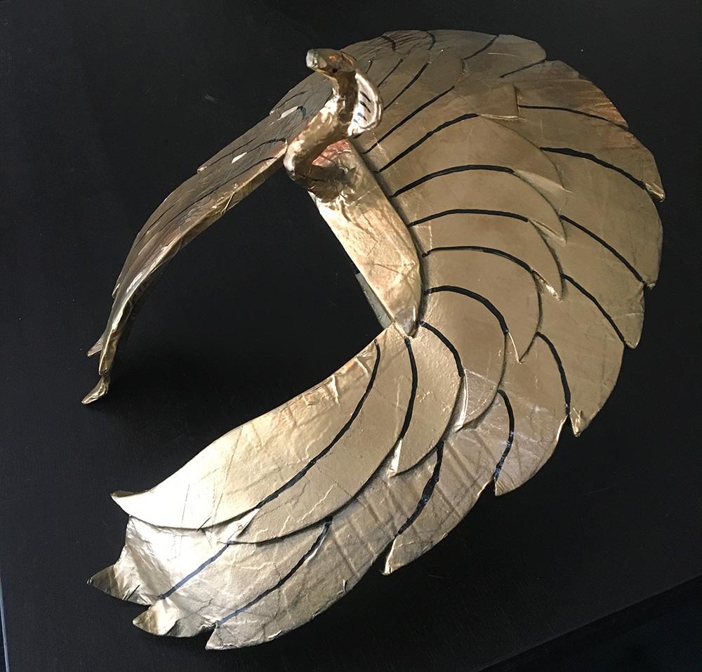 Paper mache Cleopatra headdress - Halloween 2017