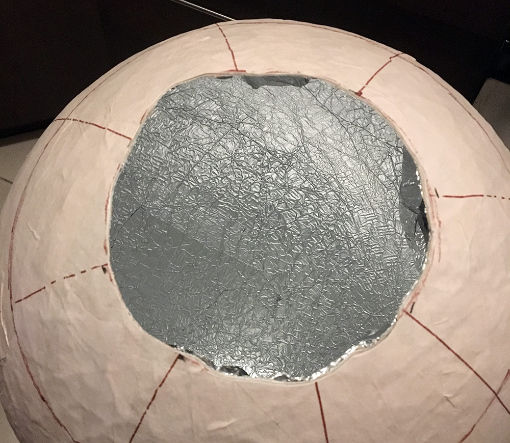 how to make a paper mache sphere