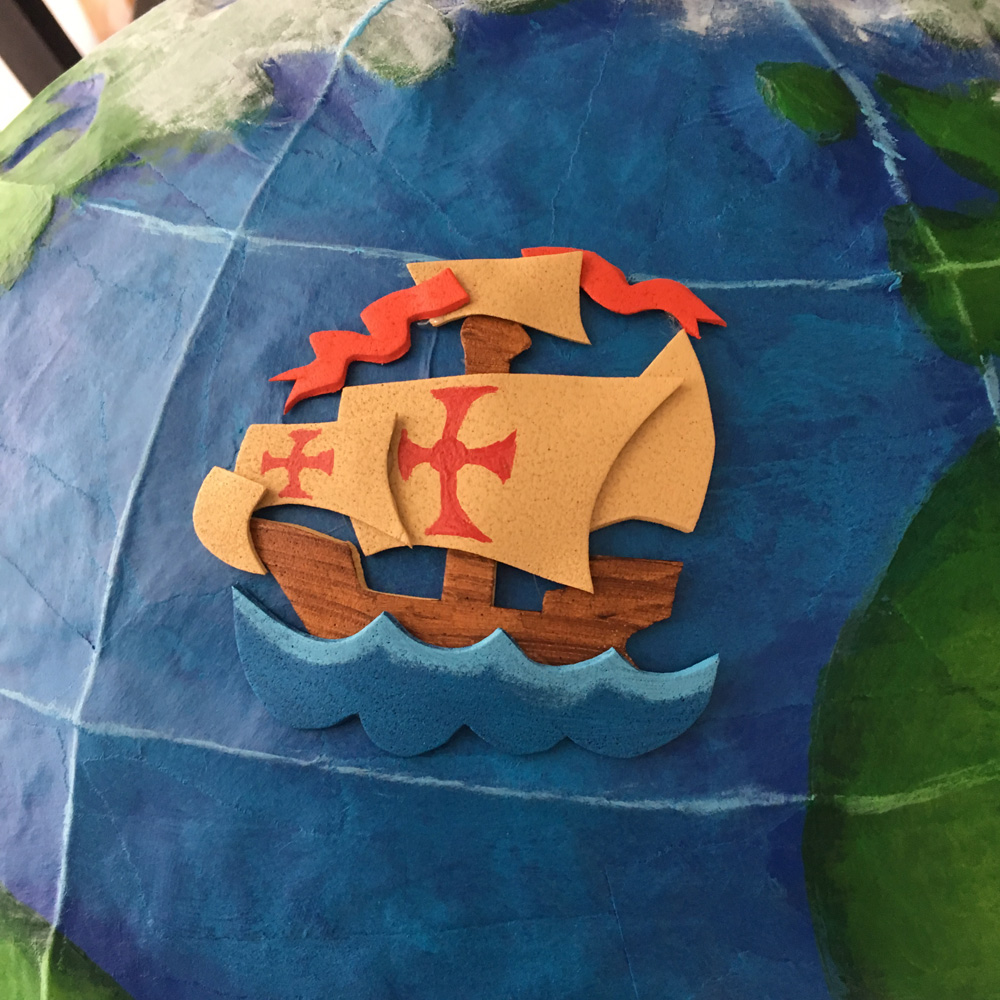 Craft foam relief - Crewe of Columbus ship logo