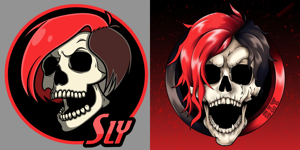 SLY skull sculpture - reference illustrations