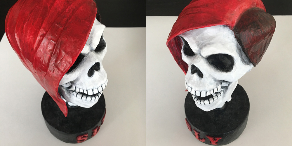 SLY skull sculpture - ready to ship