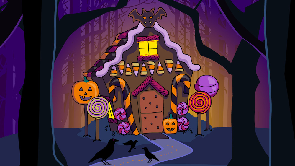 Halloween 2018 theme -- Gingerbread house!