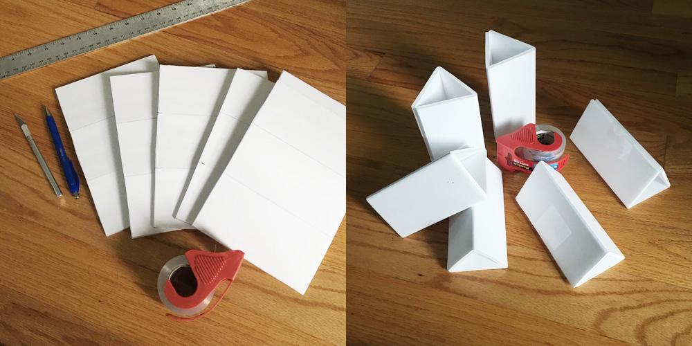 Giant paper mache gummi bears - foam board supports