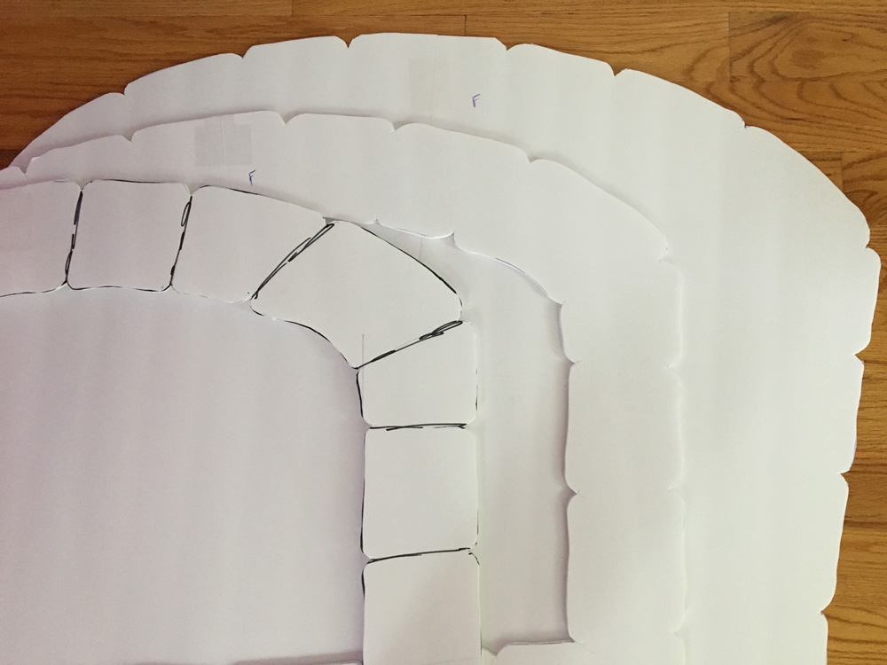 Paper maché oven prop - cutting out foam board panels