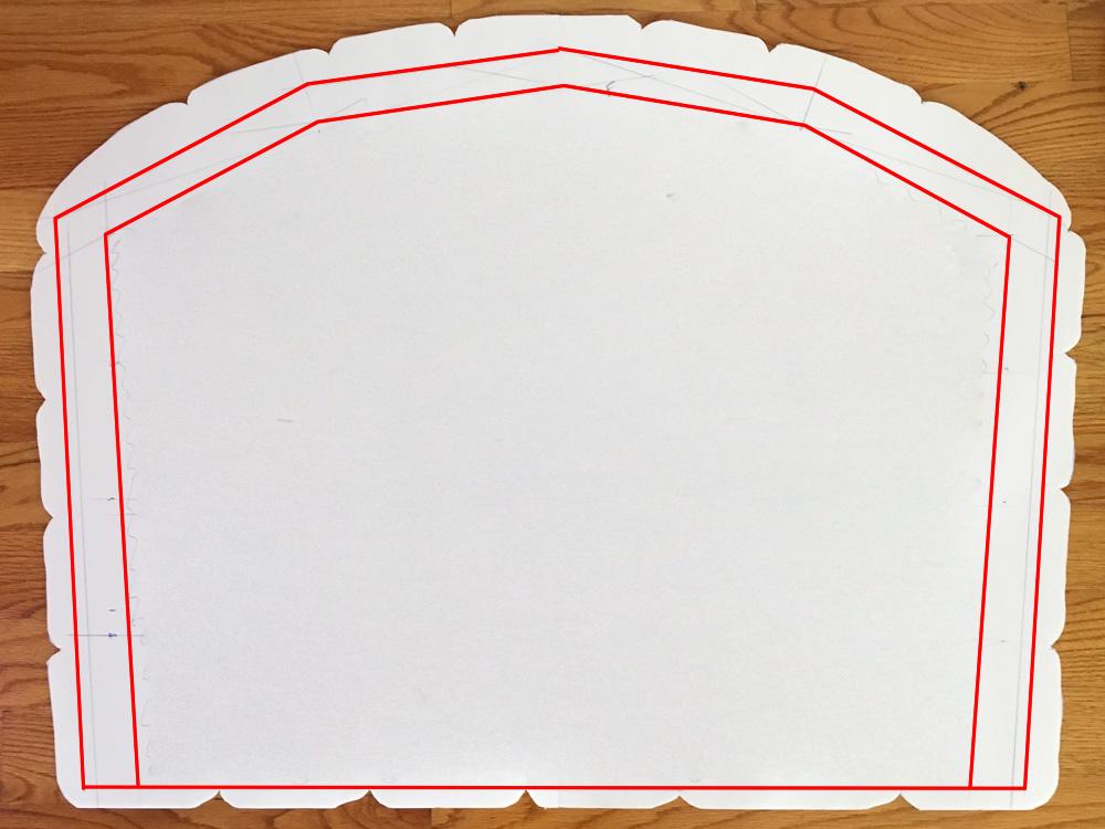 Paper maché oven prop - designing inner walls