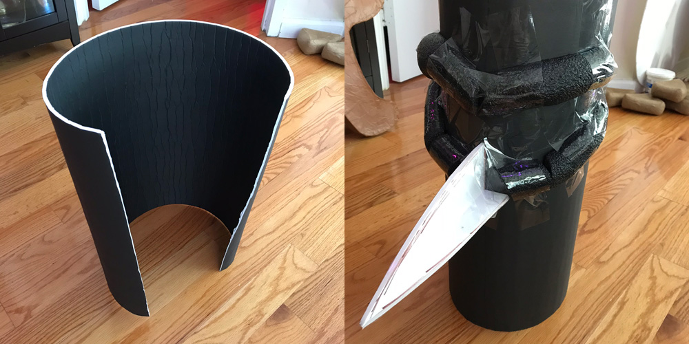 Giant witch statue - making the head with foam board