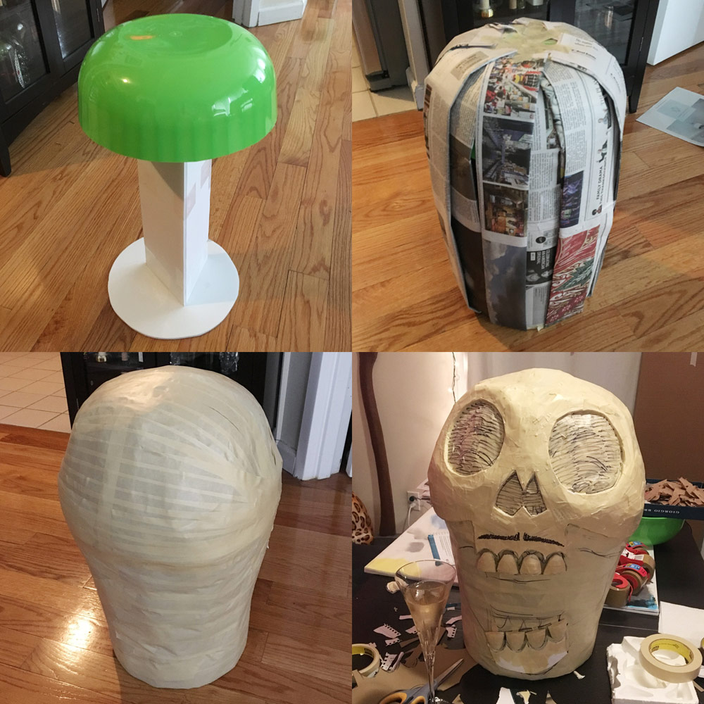 Building a base for a skull mask