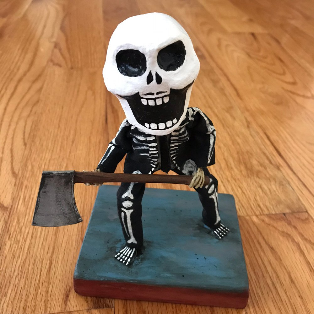 Axe Man sculpture by History Bones