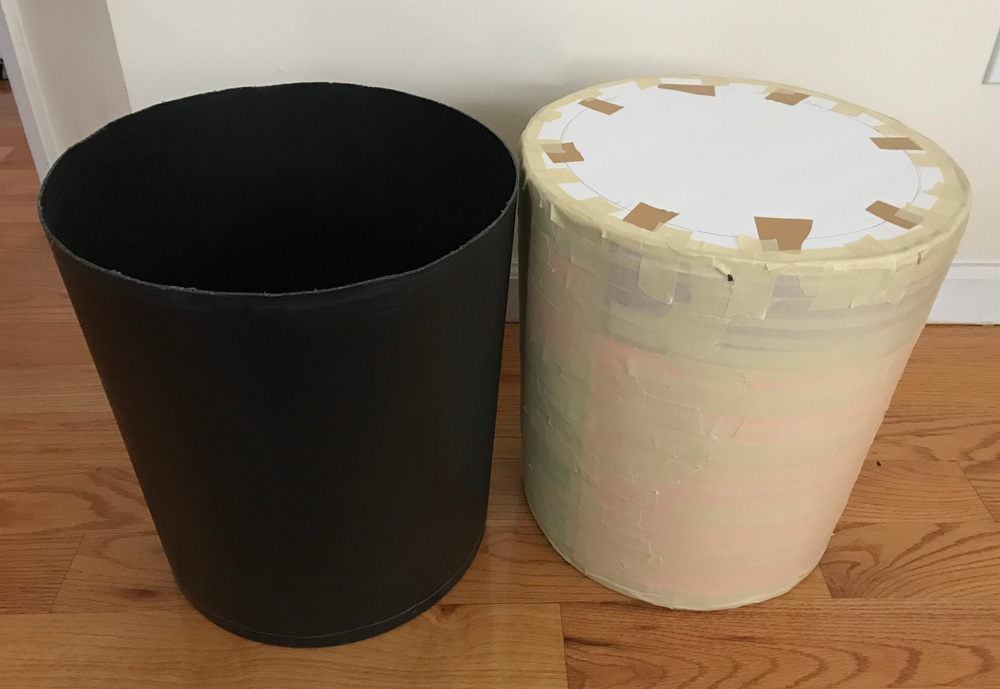 Creating a copy of the trash can to use as the skull base