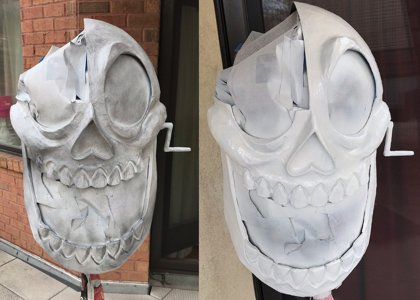 Clockwork skull mask - spray paint