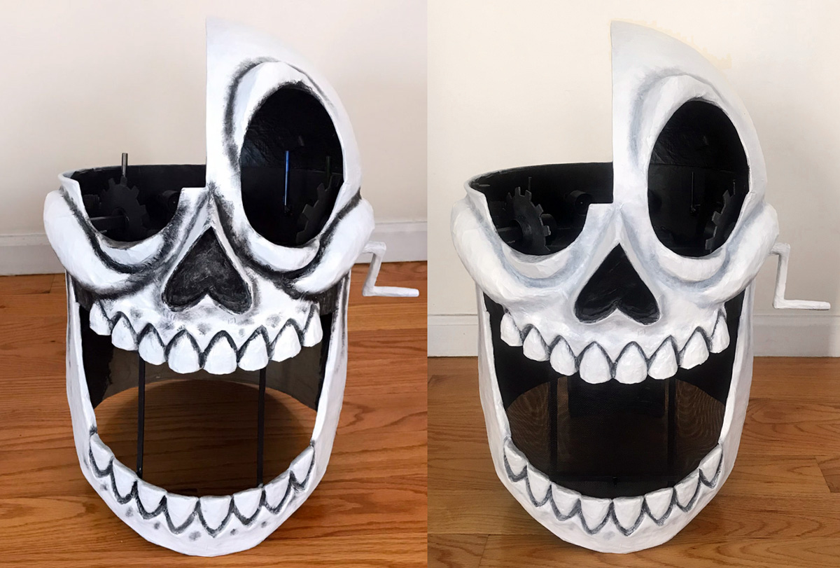 Animated skull mask - painting shadows