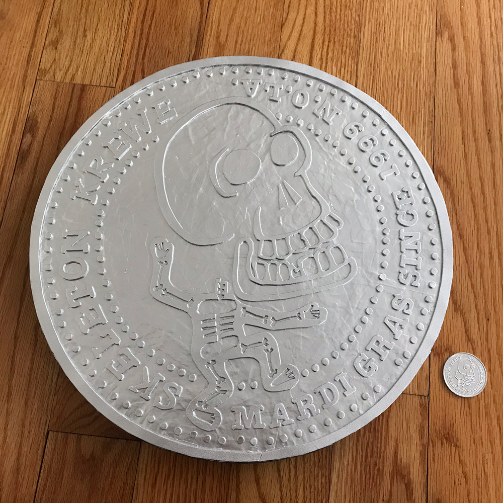 giant Skeleton Krewe doubloon - finished!