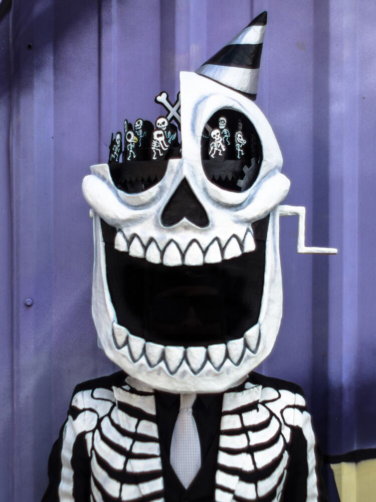 Skeleton Krewe on Mardi Gras day, 2019