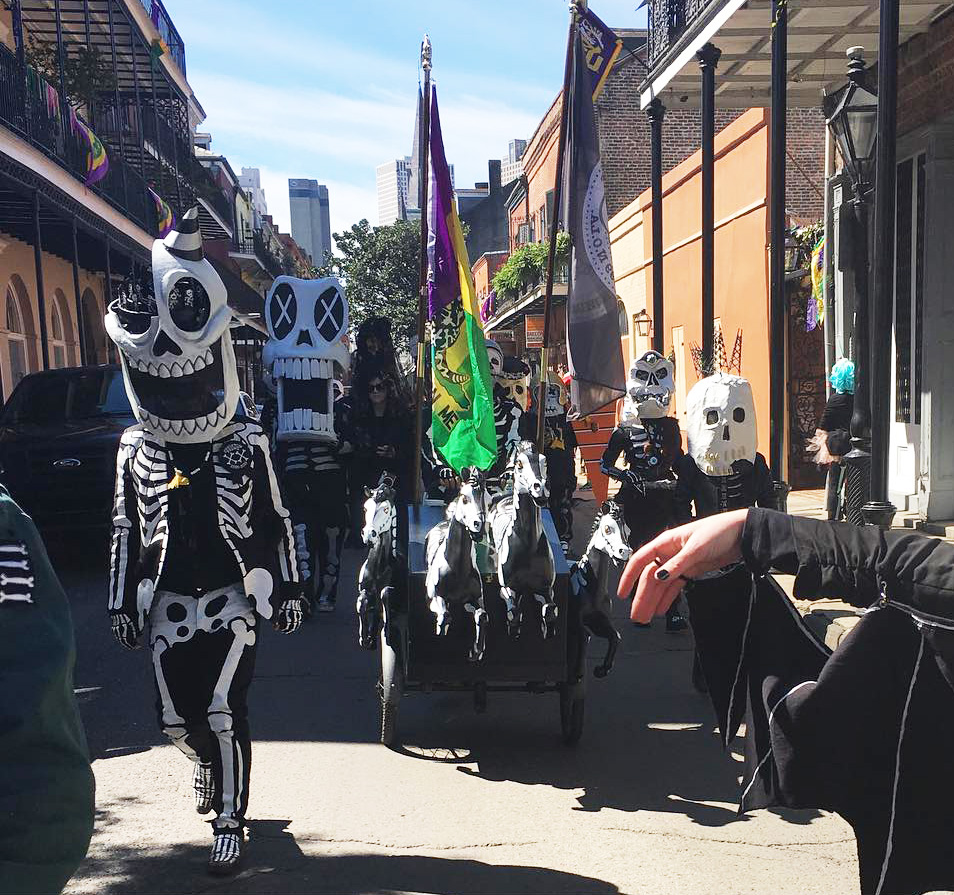 Skeleton Krewe on Mardi Gras day, 2019