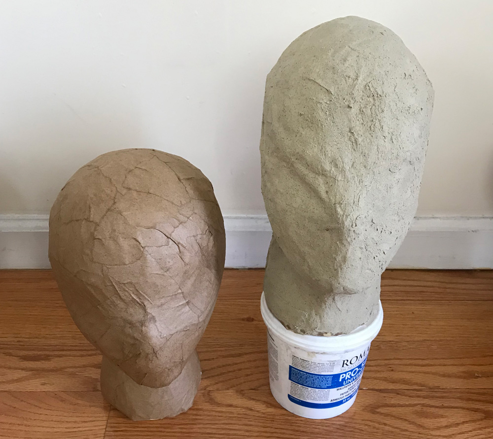 Wood filler and paper mache drying