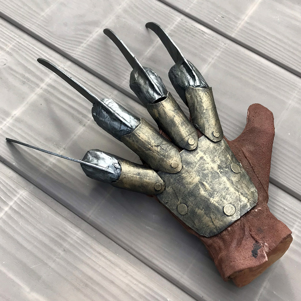 Paper mache Freddy Krueger hand prop - finished!