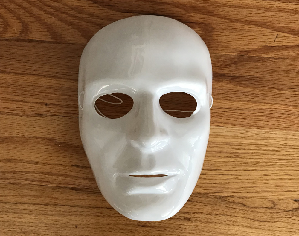 New Orleans Devil Man mask - plastic mask for the base